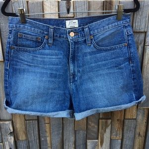 Woman's j crew denim jean shorts size 28